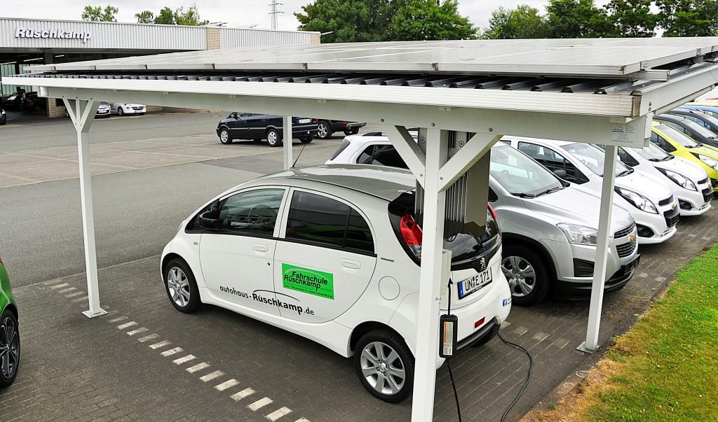 Unser erstes Solarcarport, Standort Lüdinghausen