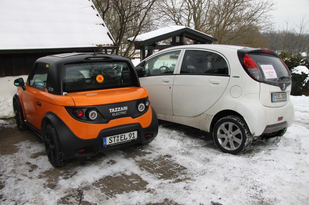 Tazzari Zero und Peugeot iOn sind die aktuellen Fahrzeuge vom D.K.
