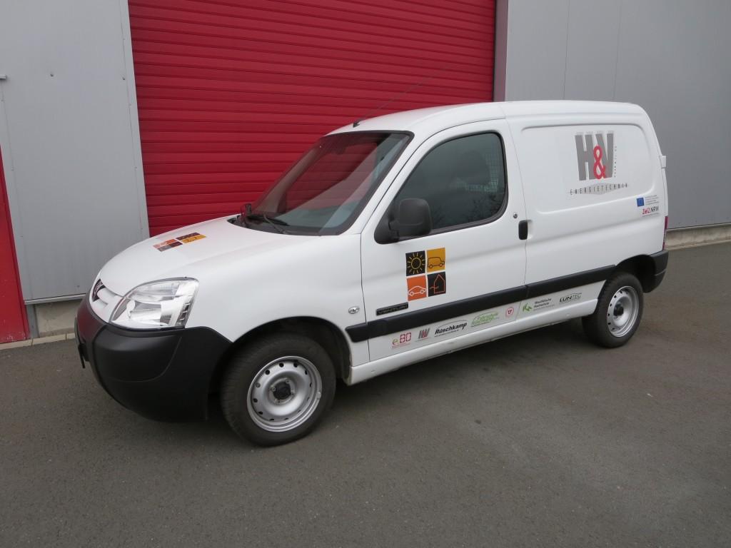 Peugeot Partner Venturi electric im Projekt eDrivingSchool