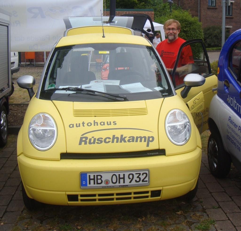 Ein Think City aus Bremen fuhr 2010 für Rüschkamp bei der Tour de Ruhr mit.