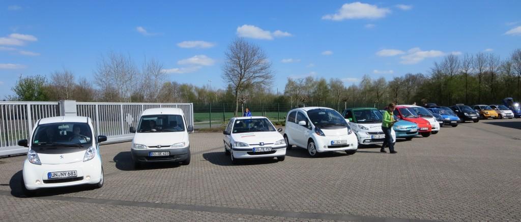 Mehr als 30 Elektrofahrzeuge beteiligten sich an der Solarchalenge Münsterland vom 17. bis 19. April.