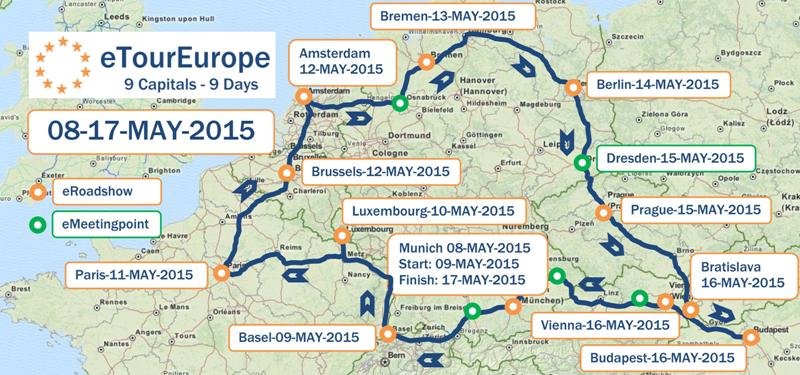 4200 km in 9 Tagen: eTour Europe