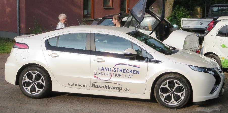 Eins der Flagschiffe bei der Tour de Ruhr war der Opel Ampera, der von unserer Promotorin gefahren wurde.