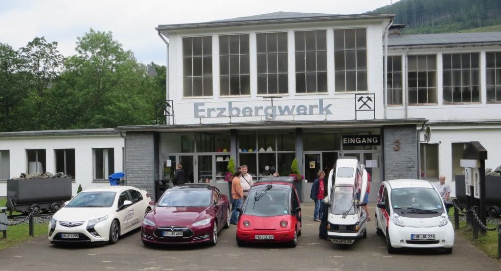 Erstes Ziel der Tour de Ruhr wAR DAS Erzbergwerk in Ramsbeck.