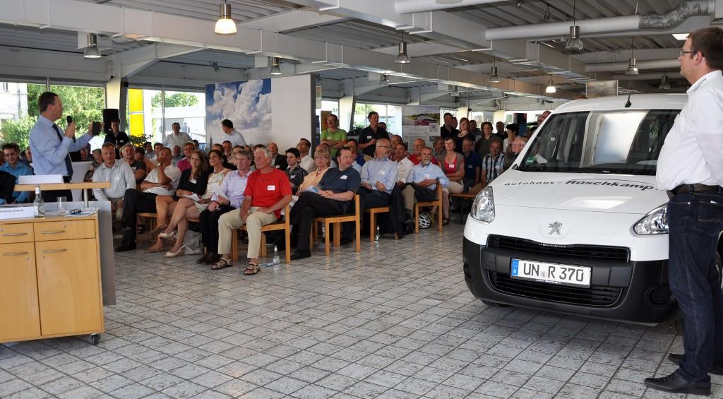 Der Peugeot PartnerElectric ist ein robuster Kastenwagen für Handwerker und Gewerbetreibende.
